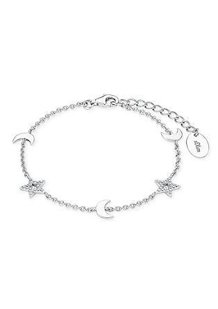 Silbernes Armband Mond und Sterne
