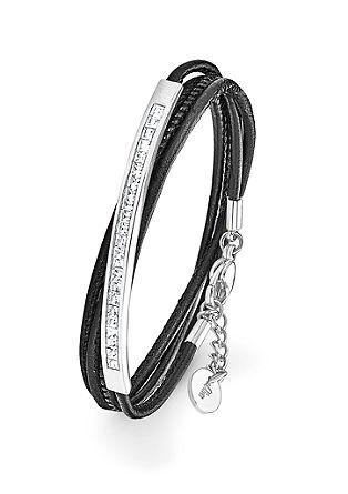 Wickelarmband mit Swarovski® Kristallen
