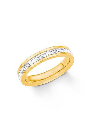 Edelstahl-Ring mit Swarovski Kristallen