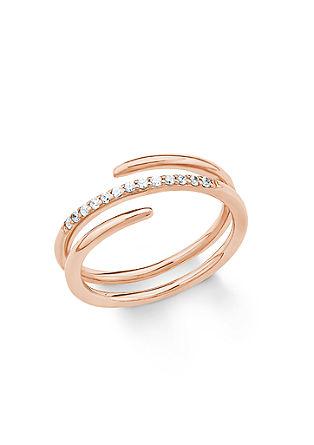 Rosévergoldeter Ring mit Zirkonia
