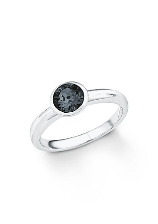 Silberring mit Swarovski Kristall