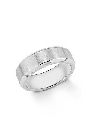 Ring aus teilmattiertem Edelstahl