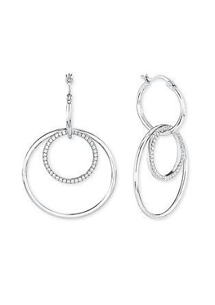 Zilveren oorbellen met zirkonia