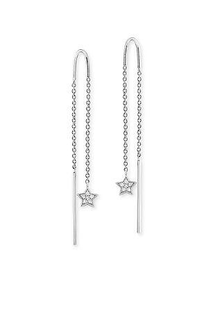 Silberne Durchzieh-Ohrringe Stern