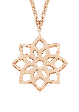 Rosévergoldete Kette mit Lebensblume