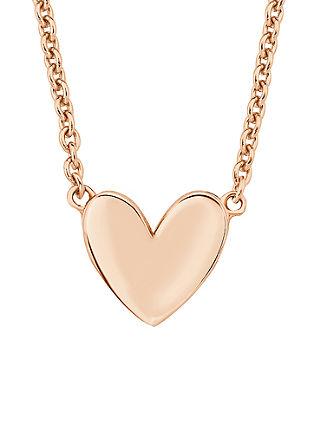 Rosévergoldete Kette mit Herz-Motiv