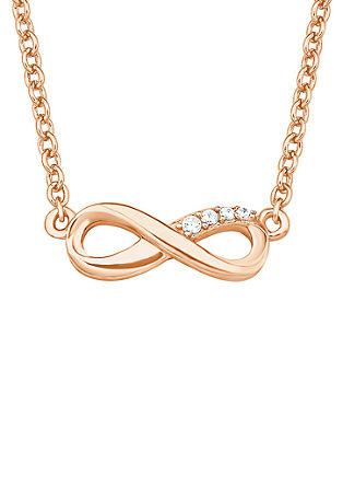 Vergoldete Halskette Infinity mit Zirkonia
