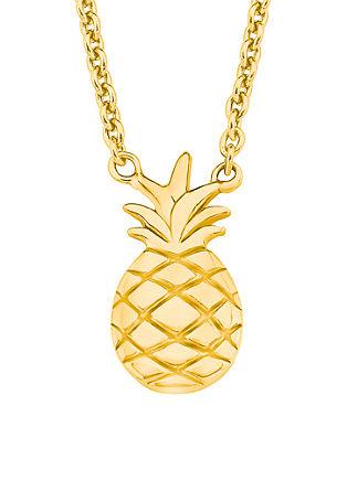 Ananasketting van verguld zilver