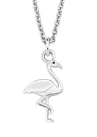 Silberkette mit Flamingo-Anhänger