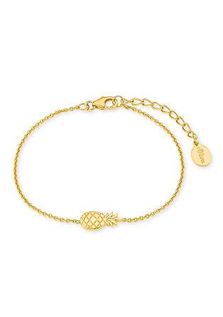 Ananas-Armband aus vergoldetem Silber