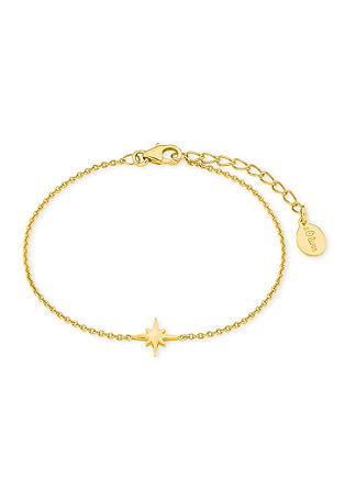 Polarstern-Armband aus vergoldetem Silber