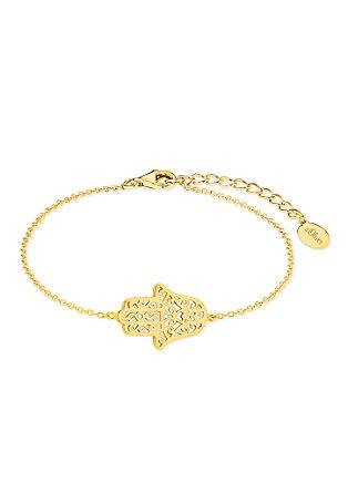 Hamsa-Armband aus vergoldetem Silber