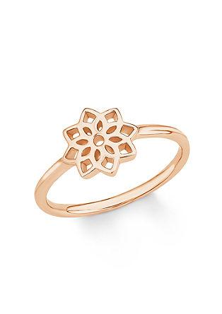 Rosévergoldeter Ring mit Lebensblume