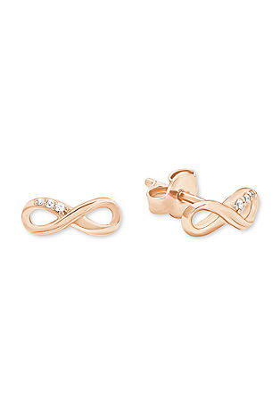 Rosévergoldete Ohrringe mit Zirkonia