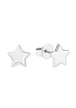 Srebrni uhani z zvezdo