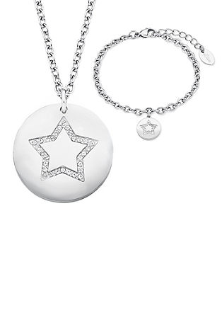 Sieradenset voor Kerstmis met een ketting en een armband
