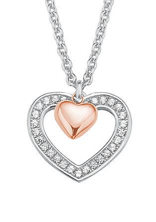Halskette mit rosévergoldetem Herzanhänger