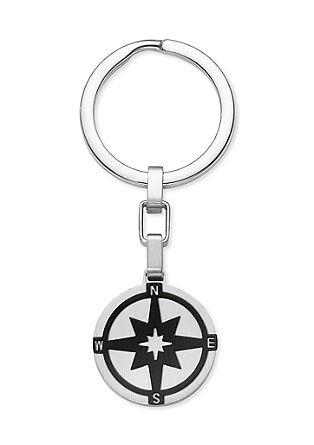 Edelstahl-Schlüsselanhänger Kompass