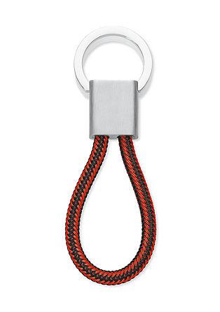 Edelstahl-Schlüsselanhänger rot