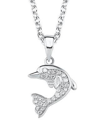 Silber-Halskette Delfin