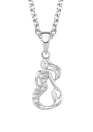 Silber-Halskette Meerjungfrau