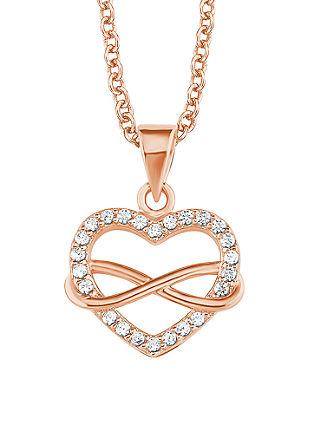 Silber-Halskette Herz/Infinity