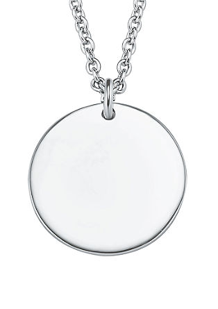 Zilveren halsketting munt