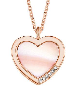 Silber-Halskette Herz