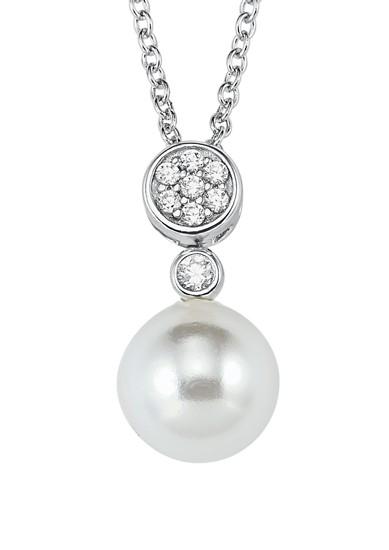 Silber-Halskette Muschelkernperle