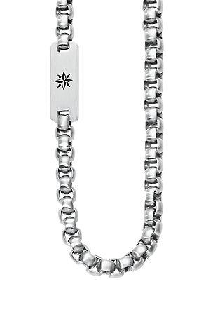 Edelstahl-Halskette Kompass