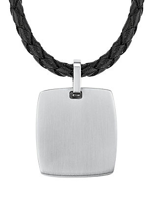Usnjena ogrlica z legiranim jeklom