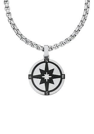 Ogrlica iz legiranega jekla – kompas