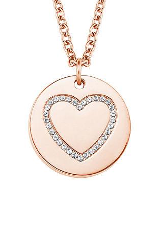 Edelstalen halsketting hart