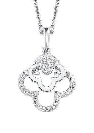 Silber-Halskette Blume