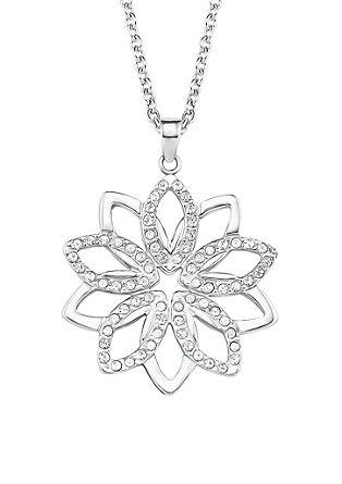 Edelstahl-Halskette Blume