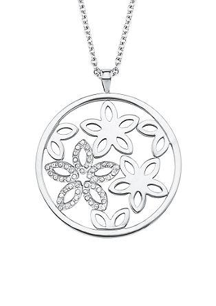 Ogrlica iz legiranega jekla – cvetlica