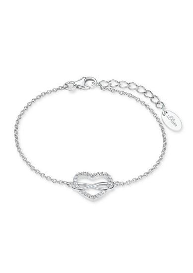 Silber-Armband Herz/Infinity
