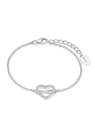 Zilveren armband hart/infinity