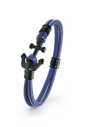 Leder-Armband Edelstahl-Anker