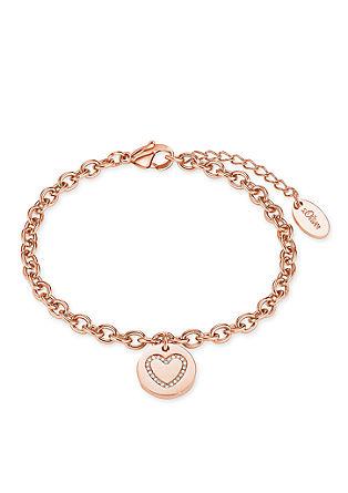 Edelstalen armband hart