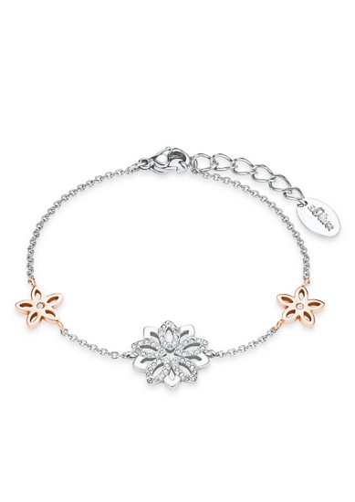 Edelstahl-Armband Blume