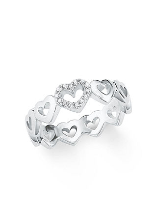 Silber-Ring Herz