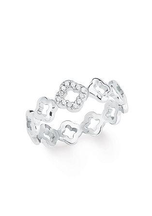 Silber-Ring Blume