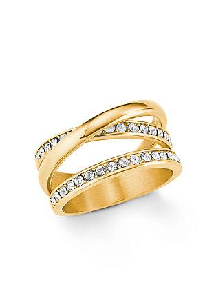 Ring IP GOLD Edelstahl