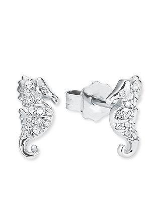 Silber-Ohrringe Seepferdchen