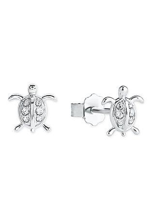 Silber-Ohrringe Schildkröte