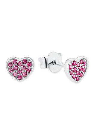 Silber-Ohrringe Herz