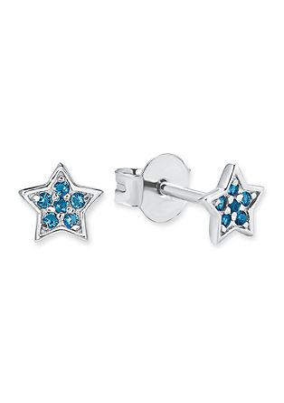 Srebrni uhani v obliki zvezdice