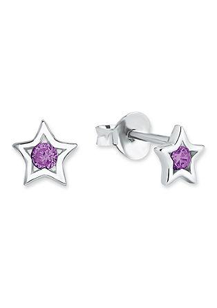 Silber-Ohrringe Stern