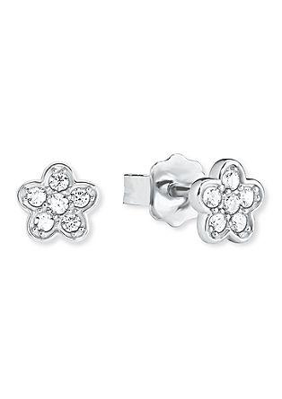 Silber-Ohrringe Blume